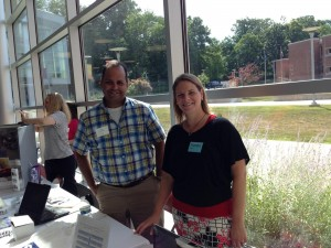 Karen with SAP's Luis Colmenares at the Chester County Futures 9th Annual College & Career Expo