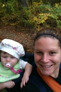 Baby Daisy and I hiking circa fall 2010