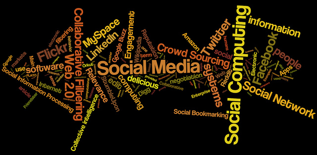 Social media, social networking, social computing tag cloud #3 by Daniel Iversen of Flickr