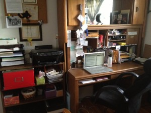 This may still be cluttered to some, but it is zen-inspiring to me.
