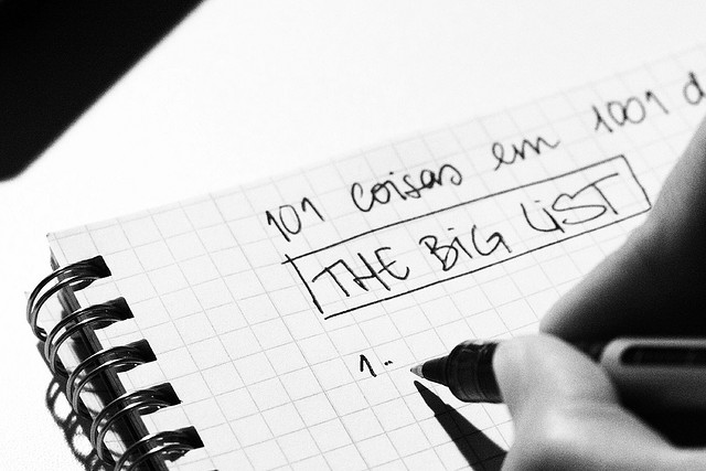 Day 291_the Big List by Ana C. on Flickr