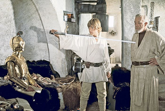 Luke Skywalker and his first lightsaber by Tom Simpson of Flickr