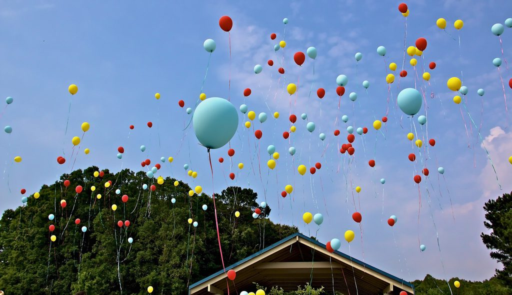 Balloon Release by Greg Williams of Flickr